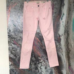 Denim - Pink Ripped jean